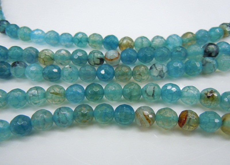 Blue Fire Agate Dyed