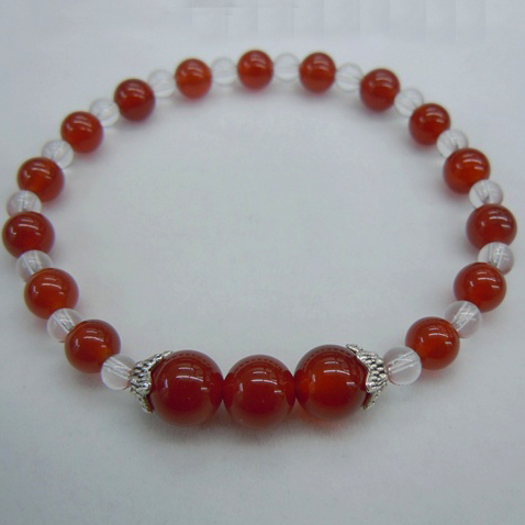 Red Agate+Crystal