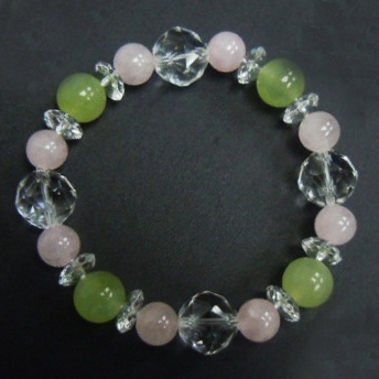 New Jade +Rose Quartz+Crystal