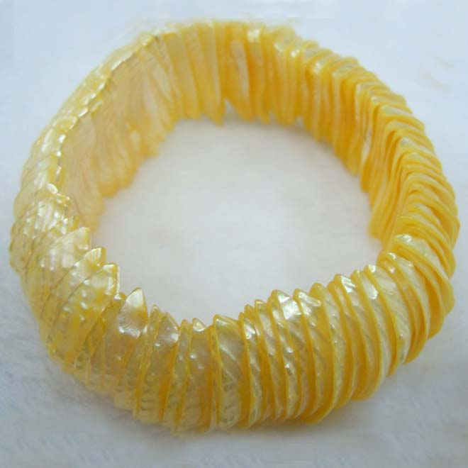 Yellow Shell Bracelet Dyed