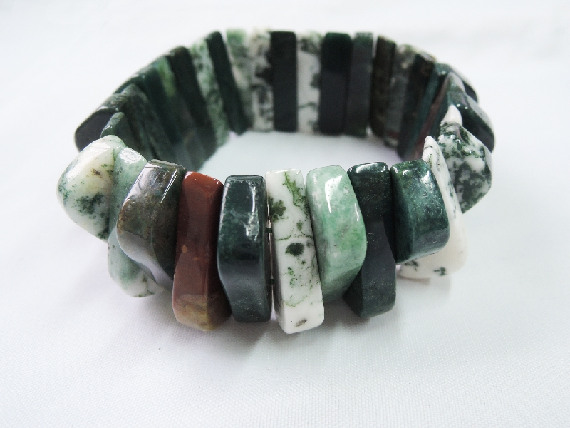 Moss Agate Braclet