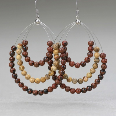 Picture Jasper Earring