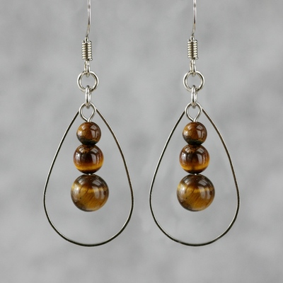 Yellow Tiger Eye Earring
