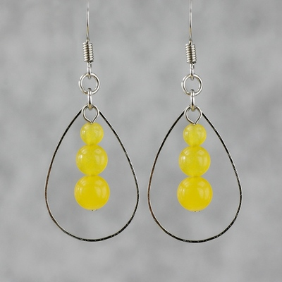 Yellow Agate Earring