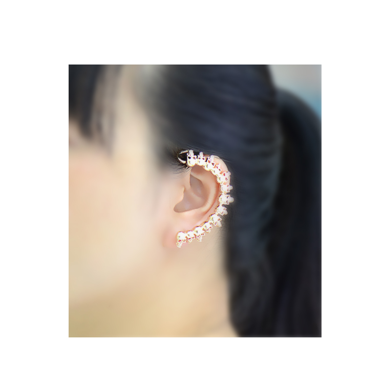 [Punk rock skull] Ear cuff