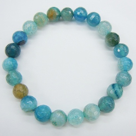 Dark Blue Fire Agate Bracelet