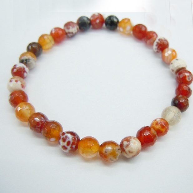 Red Fire Agate Bracelet